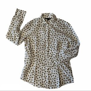 BROOKS BROTHERS 346 ladies clovers on white shirt